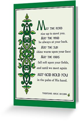 Quot May The Road Rise Up To Meet You Irish Blessing