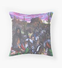 Crow Warriors' Captive Paiute Brides Throw Pillow