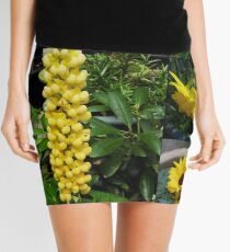 Frühlings- und Sommerblumen-Collage Minirock