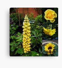 Frühlings- und Sommerblumen-Collage Leinwanddruck