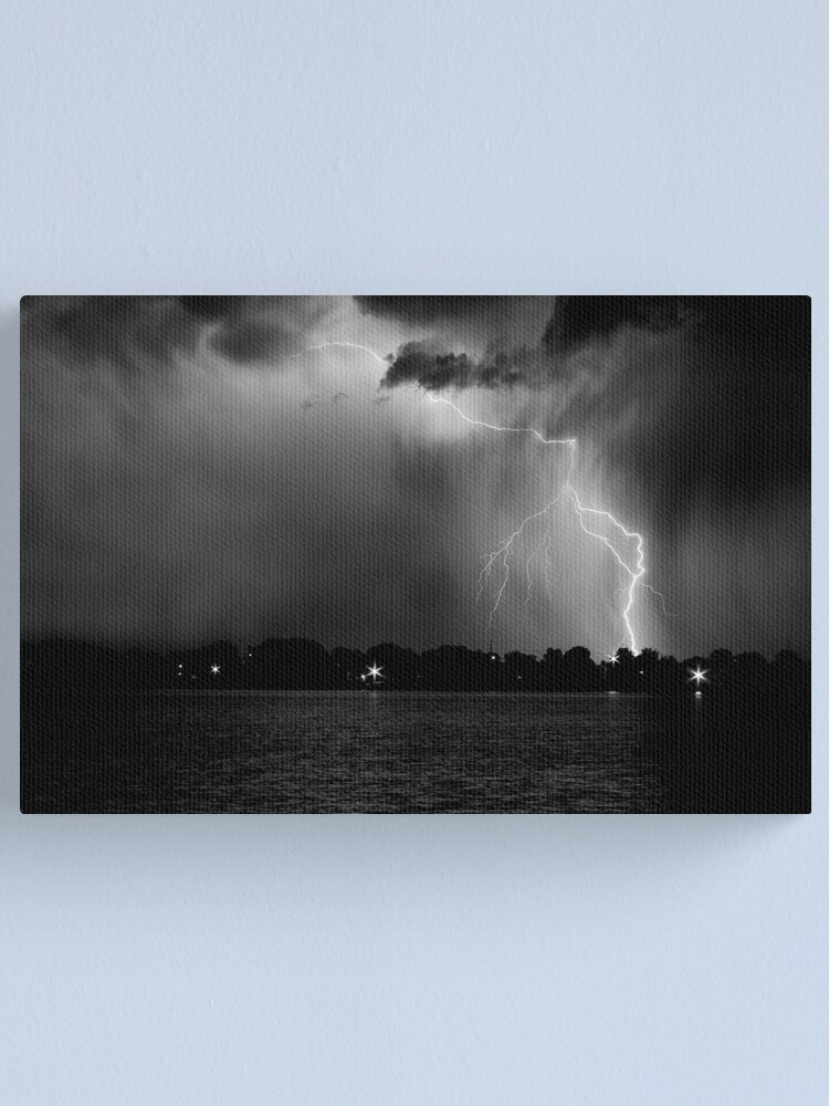 Alternate view of Energy Black and White Canvas Print