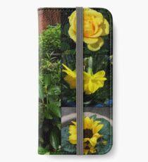 Frühlings- und Sommerblumen-Collage iPhone Flip-Case/Hülle/Klebefolie