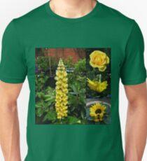 Frühlings- und Sommerblumen-Collage Slim Fit T-Shirt