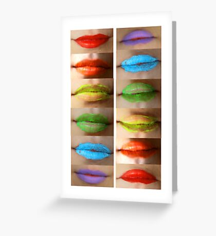 Lips of Passion. Greeting Card
