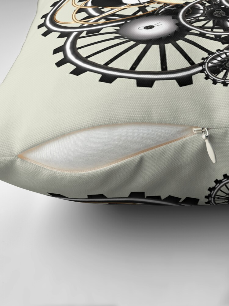 Alternate view of Steampunk Gears on your Gear No.2 Throw Pillow