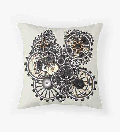 Steampunk Gears on your Gear No.2 Throw Pillow