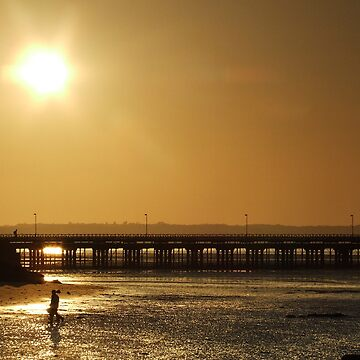 sunset over ryde pier by barnsleysteve