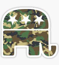 Tarnung republikanischer Elefant Sticker
