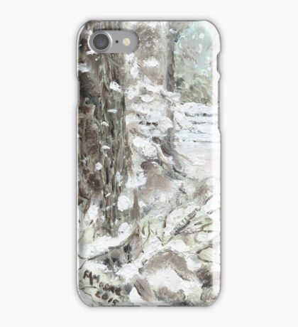 Out of Bounds - Free falling Snow iPhone Case/Skin