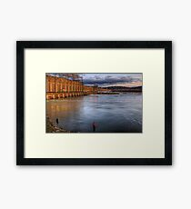 Fishing By The Dam Framed Print