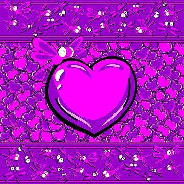 Dragonfly Love - Viola Dreams by GR8DZINE