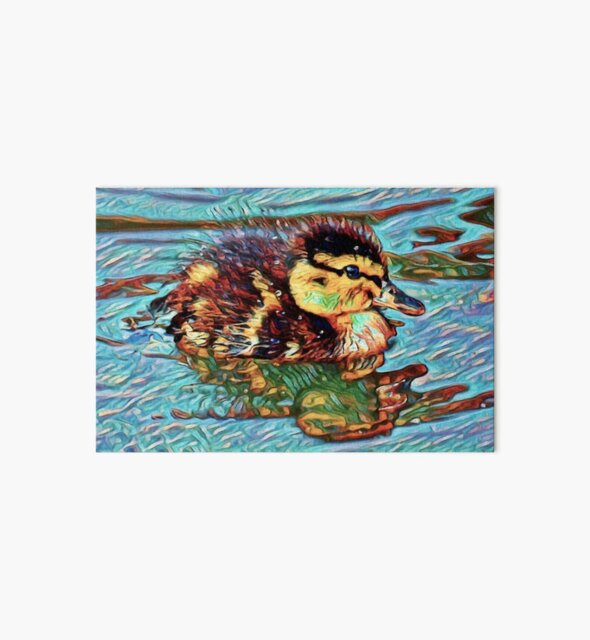 Duckling Dream   Painting  by Christopher Taylor