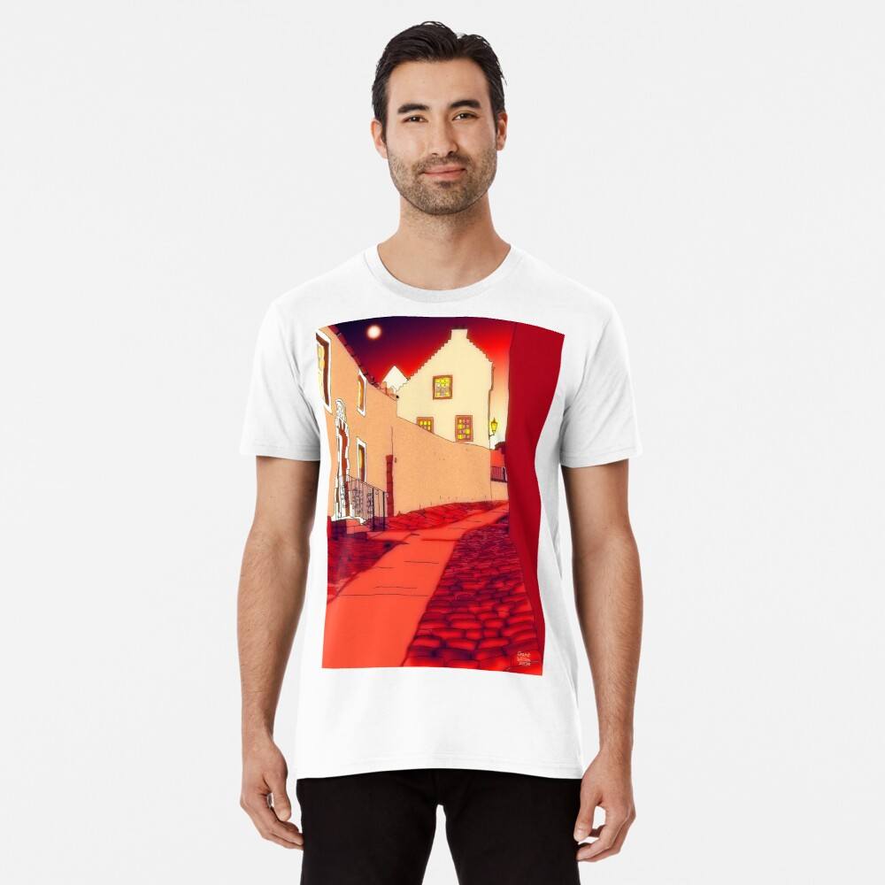 Dysart: Scottish Town digital drawing Premium T-Shirt