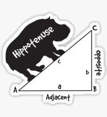 Hippotenuse Triangle Sticker
