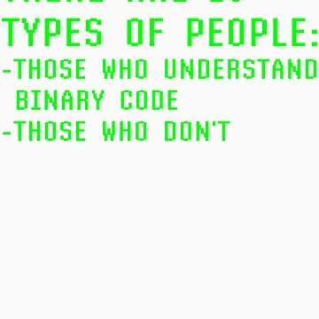 10 Types Of People Those Who Understand Binary Those Who Don't Funny Coder by kalamiotis13