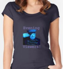 Evening Viewers - Benny Hill - Women's Fitted Scoop T-Shirt