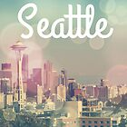 Dreamy Seattle Skyline and Space Needle by stine1