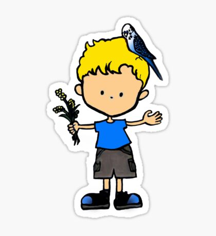 Budgie Boy Z Sticker