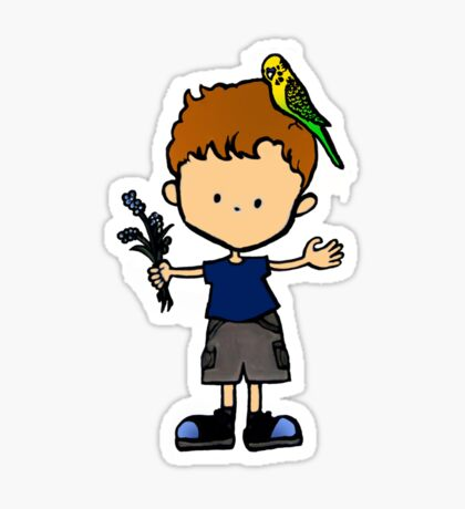 Budgie Boy N Sticker