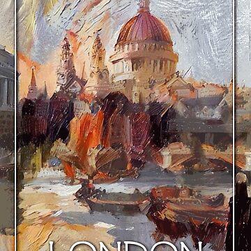 «Londres, Angleterre - Peinture / Affiche de voyage» par Chunga