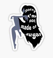 Pegatina No hecho de azúcar