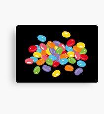 Ostern Jelly Beans Bonbons Süßigkeiten Osterfest Leinwanddruck
