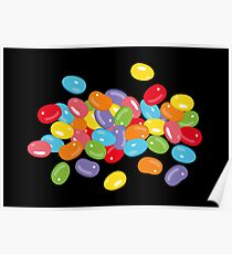 Ostern Jelly Beans Bonbons Süßigkeiten Osterfest Poster