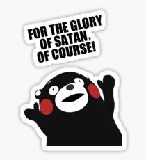Satanic Kumamon  Sticker