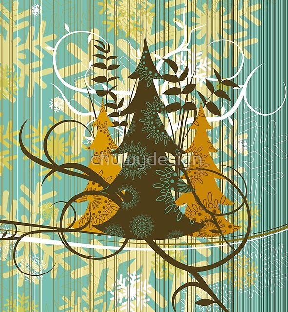 Vintage Christmas trees by chuwydesign