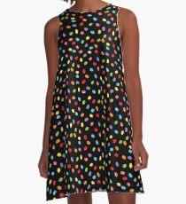 Ostern Jelly Beans Bonbons Süßigkeiten Osterfest A-Linien Kleid