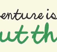 Adventure Is Out There Embroidery Hoop Sticker