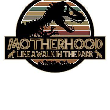 La maternidad como un paseo en el parque Vintage Dinosaur Mom de liuxy071195