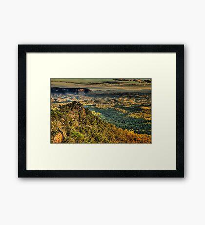 I Love Her Far Horizons (25 Shot HDR Pano)- Shippley Plateau, Blue Mountains  Framed Print