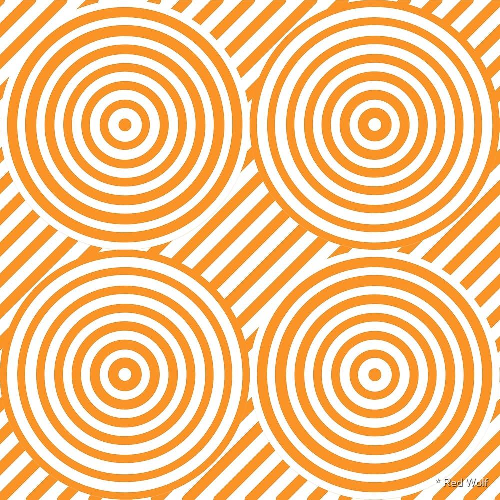 Geometric Pattern: Circle Strobe: Orange/White by * Red Wolf