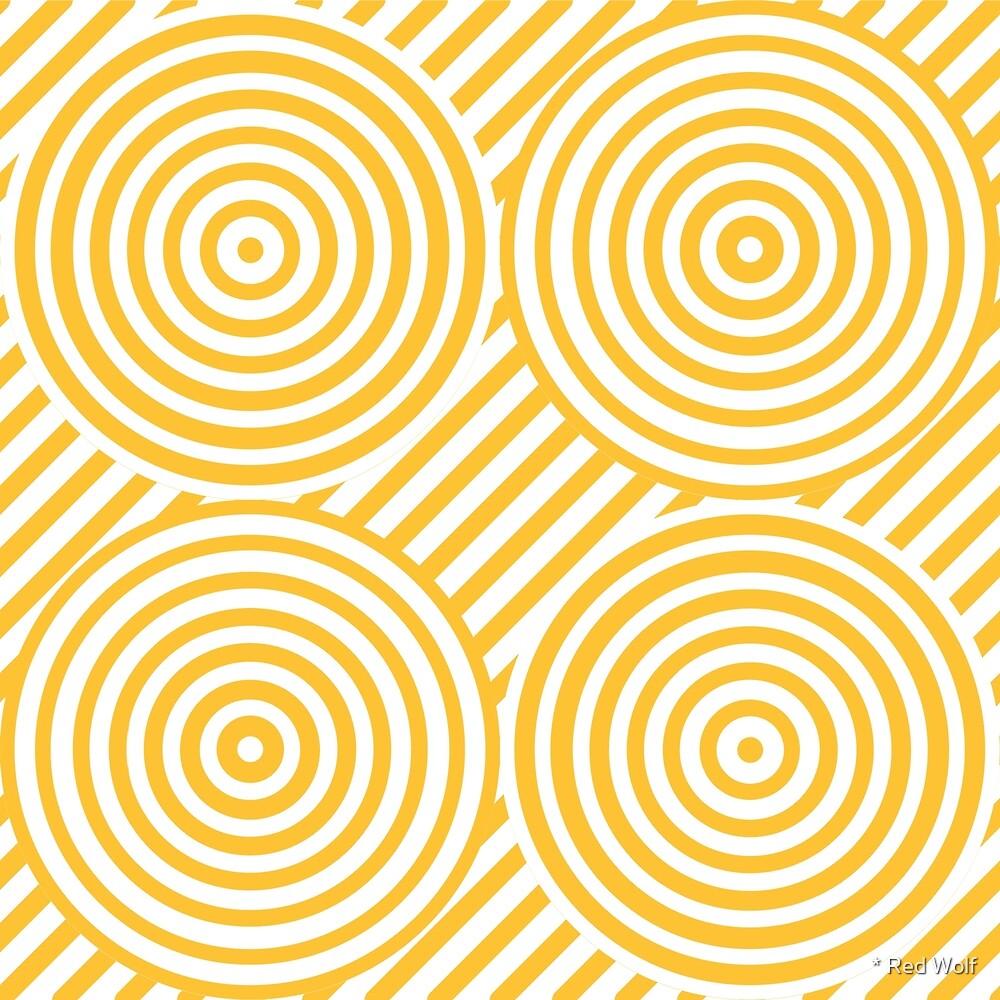 Geometric Pattern: Circle Strobe: Yellow/White by * Red Wolf