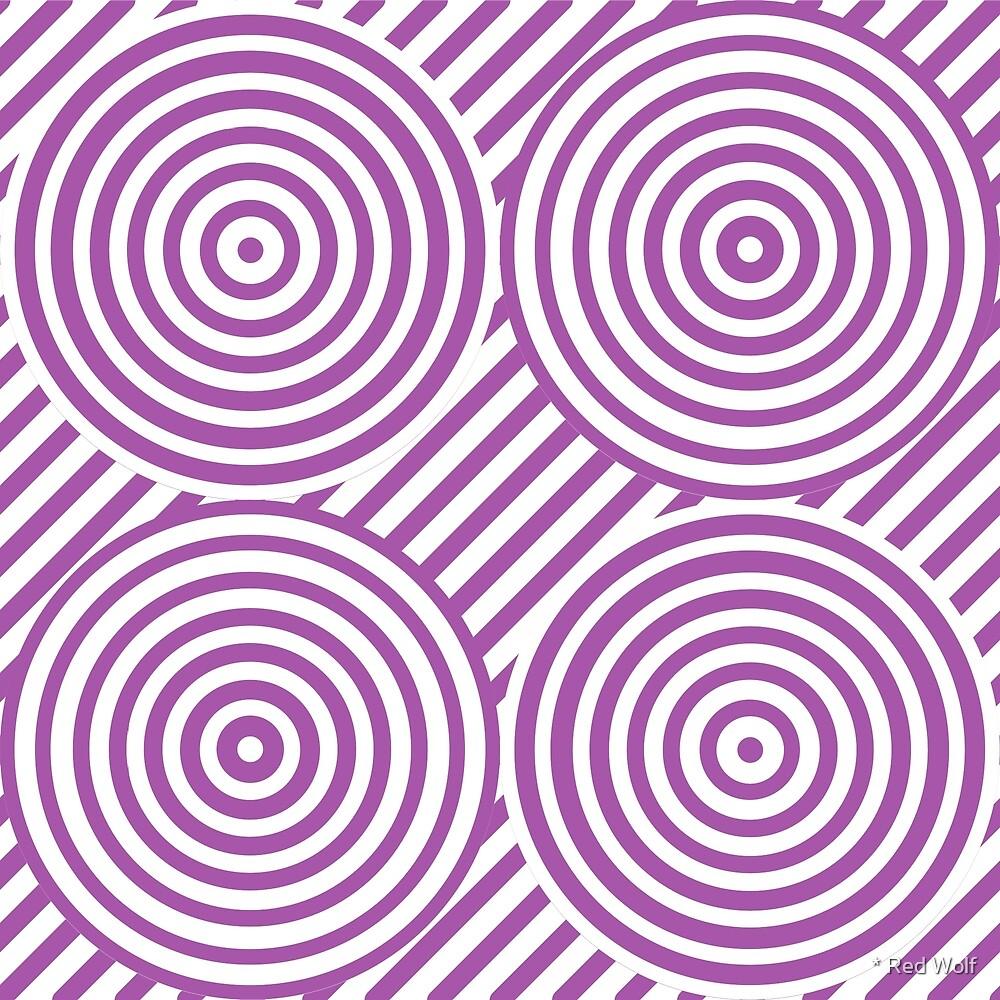 Geometric Pattern: Circle Strobe: Purple/White by * Red Wolf