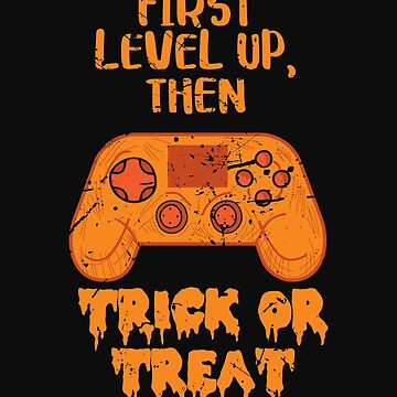 Gamer Halloween I Paused My Game Funny Gaming Orange Controller by normaltshirts