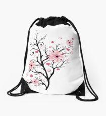 Kirschbaum Kirschblüten mit Herzen Sakura Frühling Turnbeutel