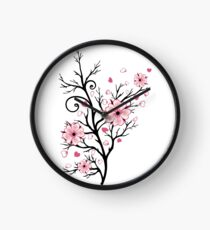 Kirschbaum Kirschblüten mit Herzen Sakura Frühling Uhr