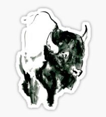 Timid Bison,Canadian Animal, acrylic illustration Sticker