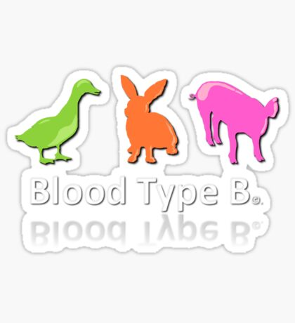 TYPE B Sticker