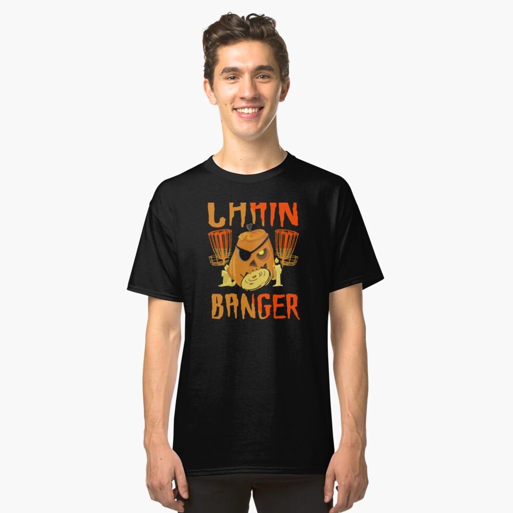 Disc Golf Funny Halloween Pumpkin Chain Banger Scary Classic T-Shirt