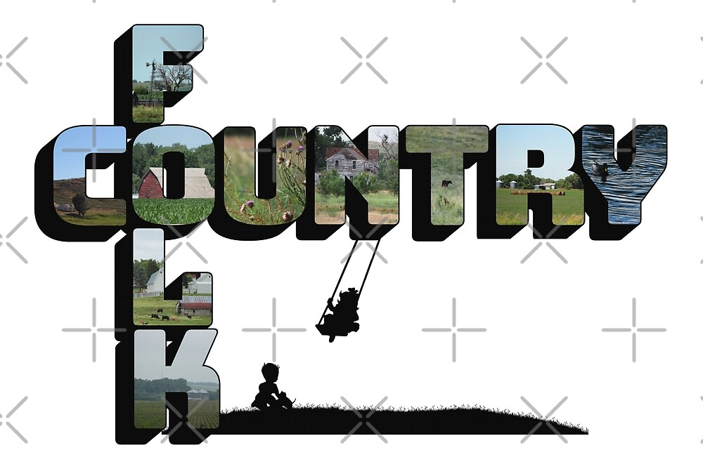 Country Folk Big Letter Graphic Art by Colleen Cornelius