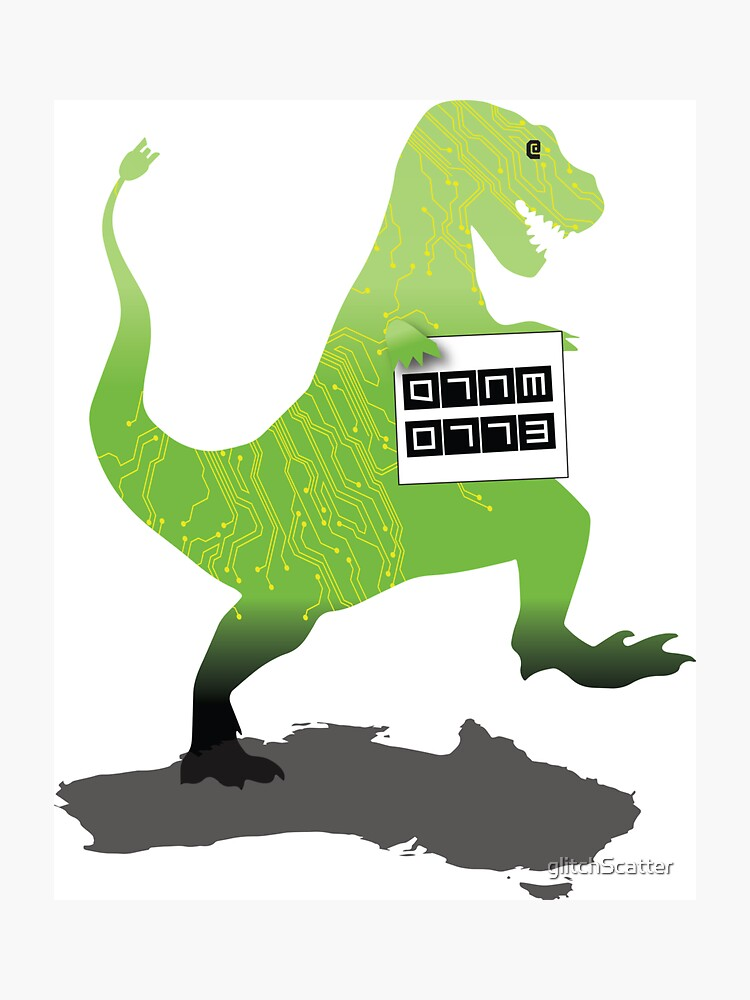 Digital Literacy -Walking with dinasaurs  by glitchScatter