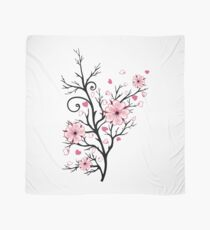 Kirschbaum Kirschblüten mit Herzen Sakura Frühling Tuch