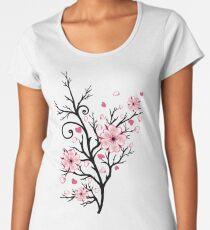 Kirschbaum Kirschblüten mit Herzen Sakura Frühling Frauen Premium T-Shirts