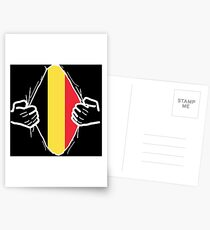Belgium flag gift nationality Postcards