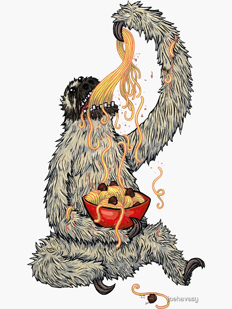 A Sloth Eating Spaghetti by joehavasy