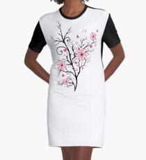Kirschbaum Kirschblüten mit Herzen Sakura Frühling T-Shirt Kleid