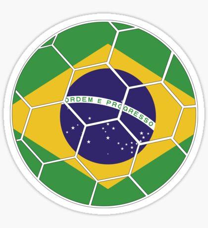 Brazil Football Design Sticker